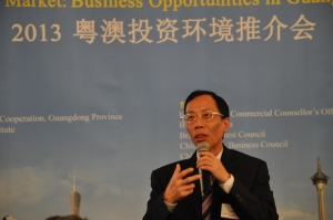Keynote speech on Guangdong Province